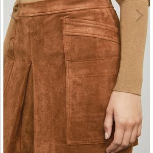 BCBGMaxAzria Skirts - BCBGMAXAZRIA Corinne Faux Suede Skirt